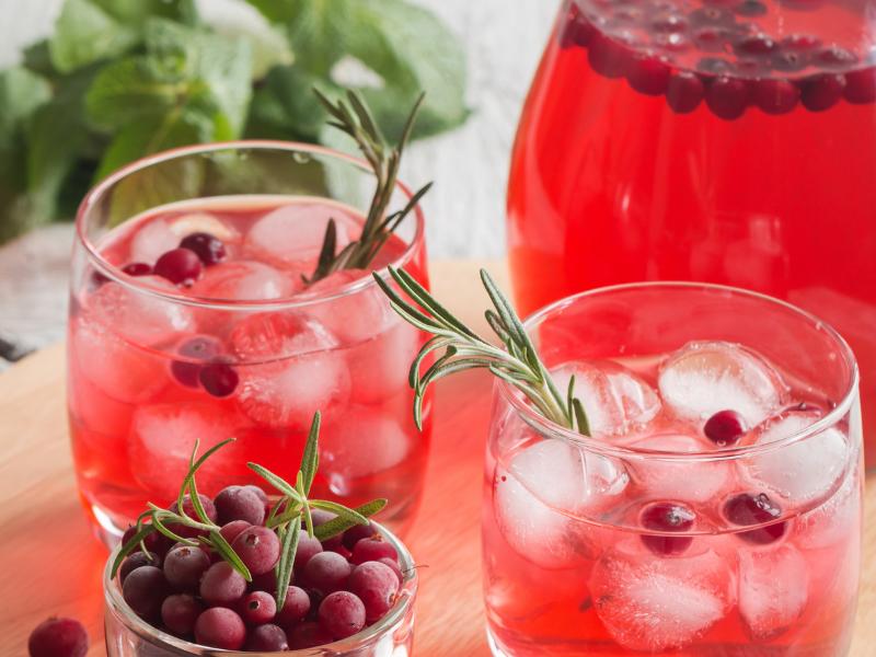 Cranberry Soda with Vivazen